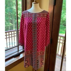 NWOT Loft Southwestern Bohemian Long Sleeve Dress